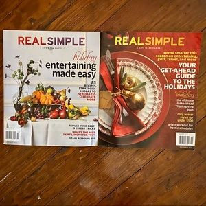 2 piece set- Real Simple Thanksgiving Christmas
